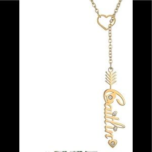 🥰Gold Caitlin Name necklace